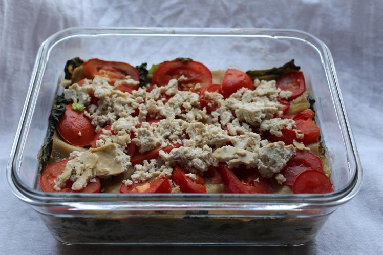 Wirsing-Lasagne, vegan, Vollkorn
