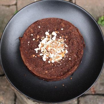 Schoko-Maroni-Kuchen ohne Industriezucker, ohne Mehl, natürlich gesüßt, ohne Ei, vegan, glutenfrei, gesund Backen für Veganer