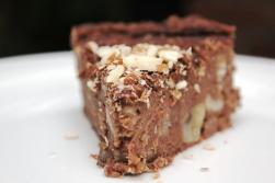 Schoko-Maroni-Kuchen ohne Industriezucker, ohne Mehl, natürlich gesüßt, ohne Ei, vegan, glutenfrei, gesundes Weihnachts-Dessert