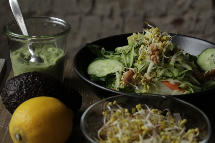 Der Wintersalat sättigt langanhaltend und hält extra viele frische Vitamine für ein starkes Immunsystem auch im Winter bereit. Der Salat eignet sich ideal als Mittagessen während der Detoxkur.